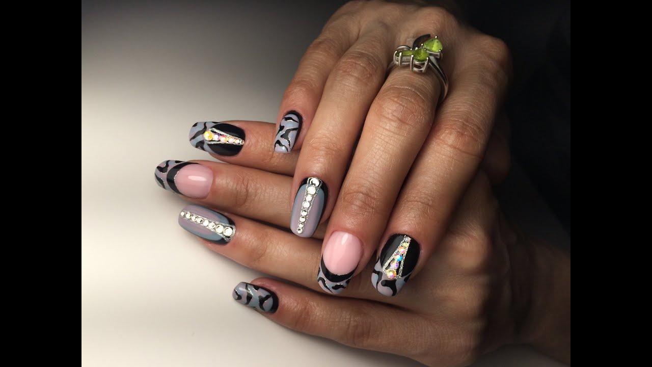 Дизайн ногтей фото камуфляж