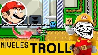 NO PUEDO CONFIAR NI EN LO QUE PIENSO!! - NIVELES TROLL #4 | Super Mario Maker - ZetaSSJ