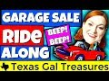 Garage Sale Ride Along 2018 - PUSHY Buyer Alert! - Thrift Store Ride Along