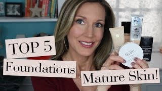 Top 5 Best Foundations for Mature Skin!