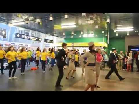 Flash mob in Vilnius airport (VNO)