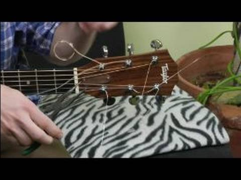 how to change the strings on an acoustic guitar how to clip the excess off the guitar strings. Black Bedroom Furniture Sets. Home Design Ideas