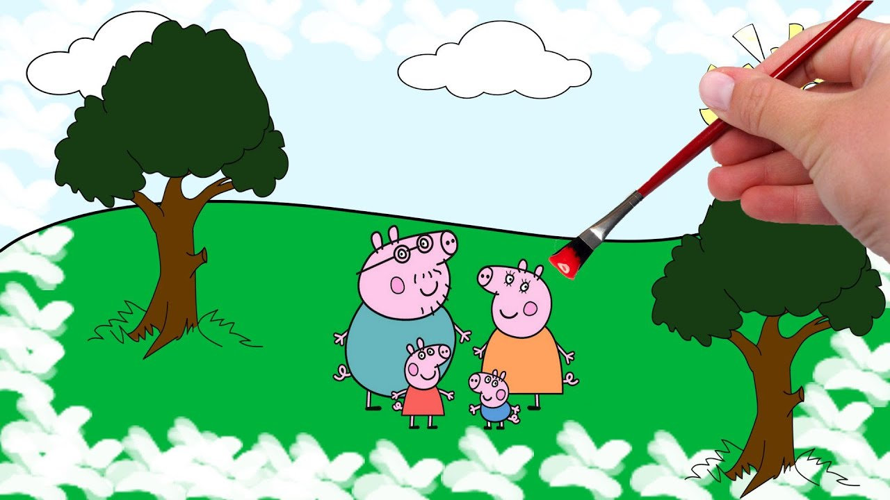 Peppa Pig Coloring Book and Pages - YouTube