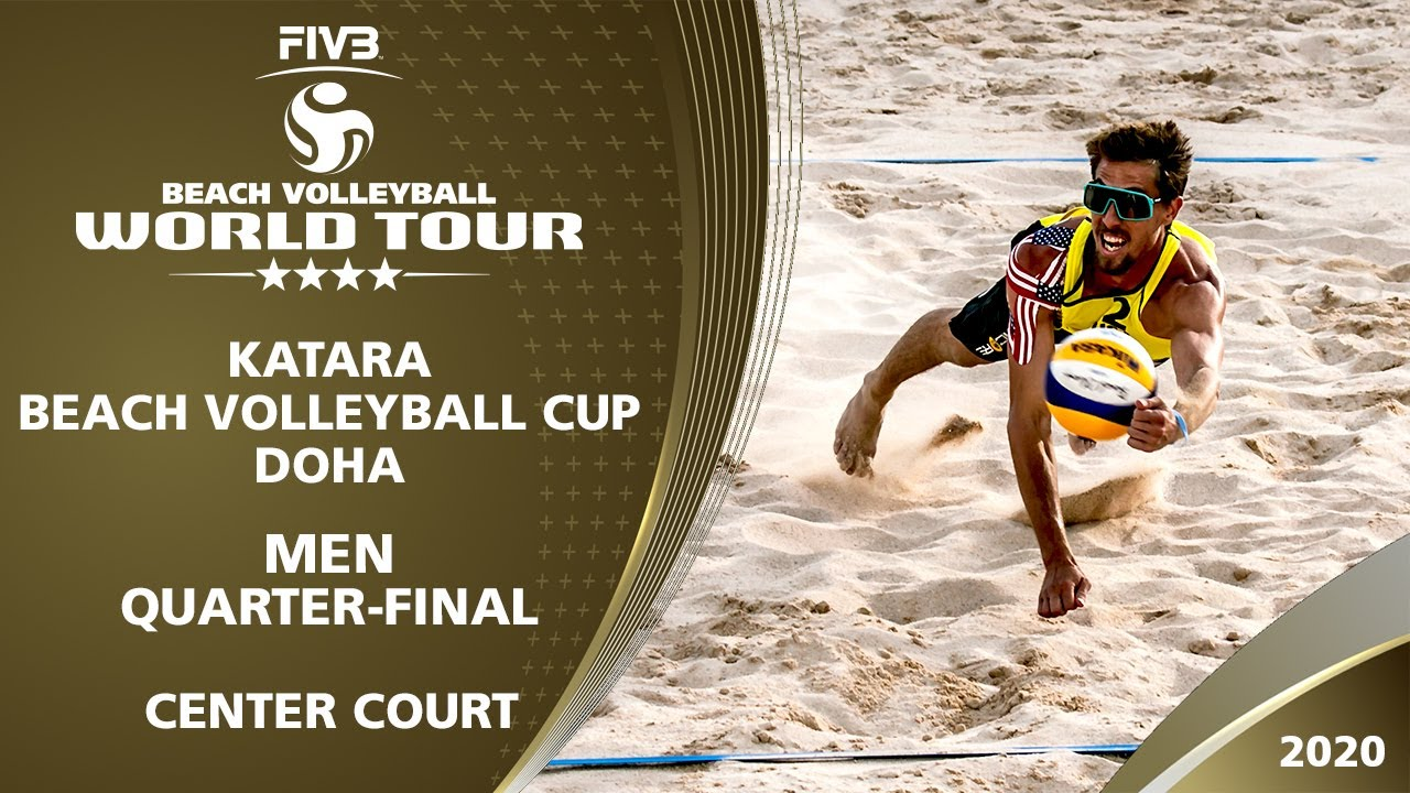 Men's Quarter Final - Center Court | 4* Doha (QAT) - 2020 FIVB Beach Volleyball World Tour