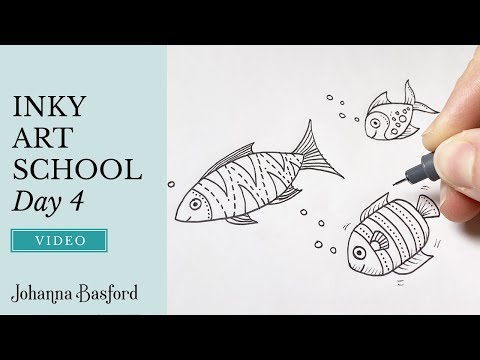 Inky Art School : Day 4 : How To Draw Fish