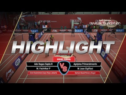 Ade B/M  Fachrikar (Exist Badminton/Jaya Raya) VS Agripina P/M Juan E (Berkat Abadi/Victory Bogor)