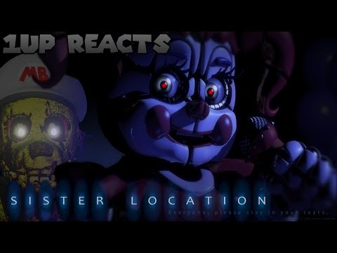 1UP REACTS - Five Nights At Freddy's: Sister Location Trailer 1