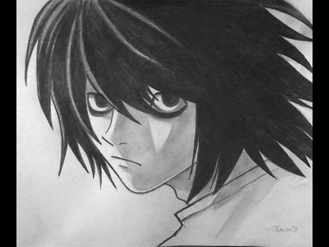 How To Draw L Death Note Manga Youtube
