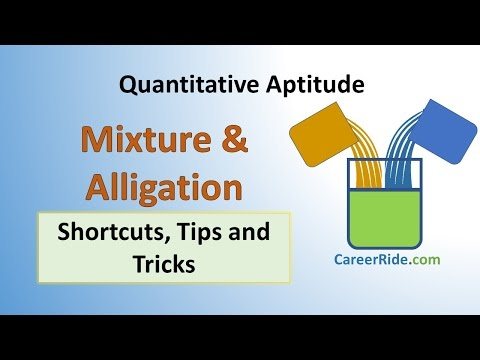 Mixture And Alligation - Shortcuts & Tricks For Placement Tests, Job Interviews & Exams