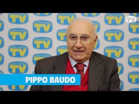 Pippo Baudo in redazione a Sorrisi a Sanremo