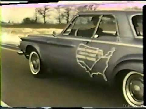 X Country in the Chrysler Jet/Turbine Car- NY to LA via Jet Powered Auto- No Radiator or Pistons!