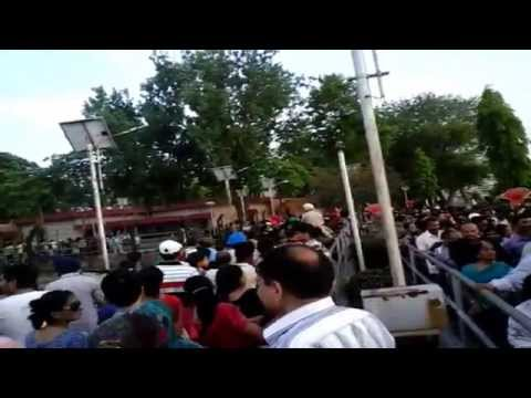 Wagah border parade Huge crowd