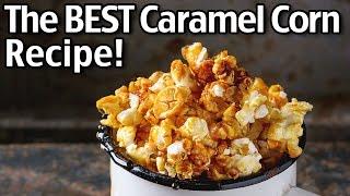 The BEST Homemade Caramel Popcorn!