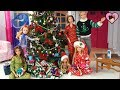 Barbie Sisters Christmas Morning Routine - Opening Christmas Presents!