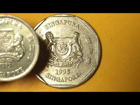 1995 Singapore Dollar Rare Valuable Singapura $1 Collectible Coin - With Extra 1989 Singapore Dollar