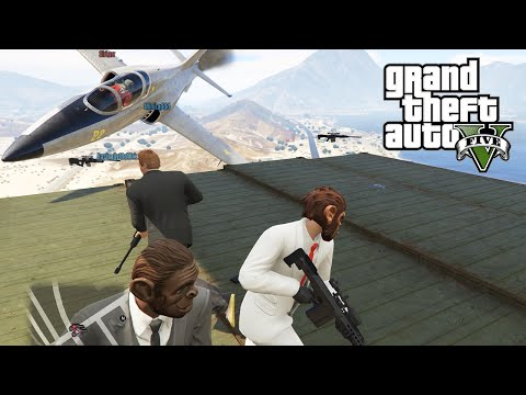 GTA 5 PC Online Lui Calibre and Friends vs Fun Haus Sharpshooters vs Jets