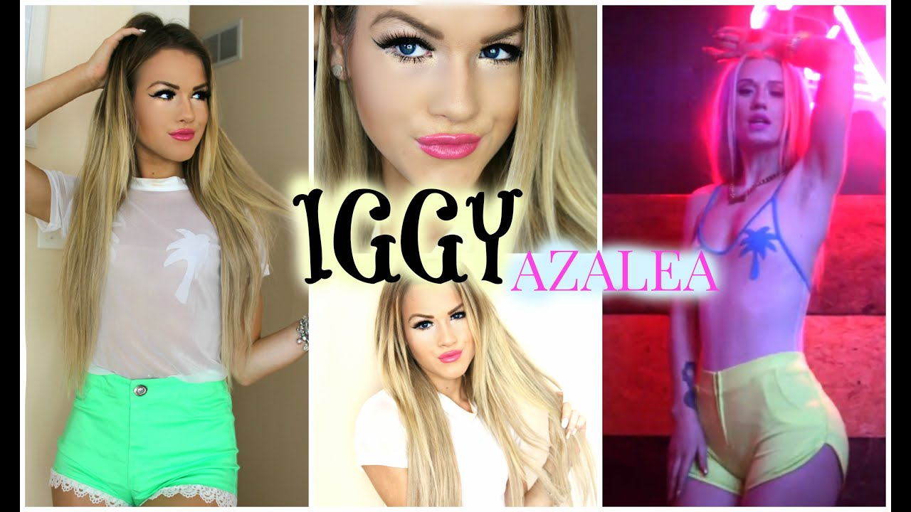sc 1 st  YouTube & DIY Iggy Azalea Halloween Costume | Hair Makeup and Outfit - YouTube