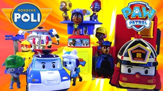 Paw Patrol Parking Lot Headquarters Robocar Poli - Kids' Toys