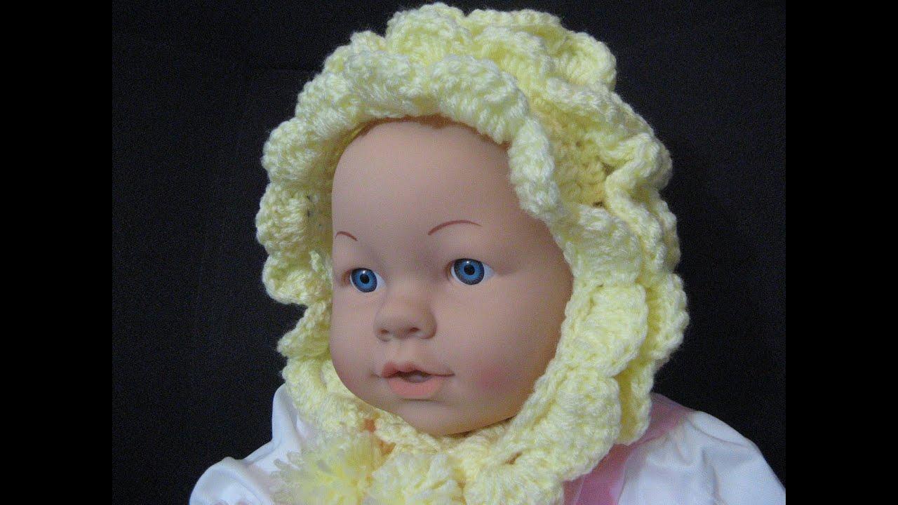 Vintage Style Crochet Baby Bonnet Youtube
