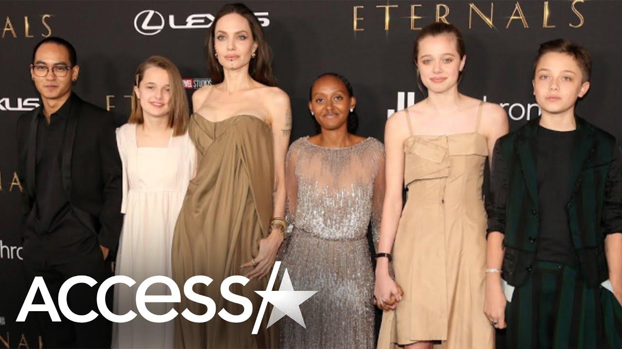 Angelina Jolie's kids wear her old dresses on 'Eternals' red carpet
