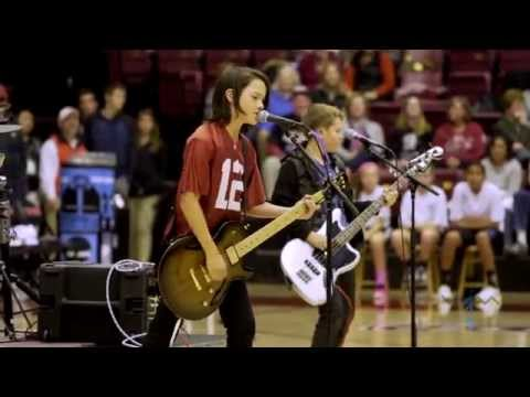 6th-grade band WJM performs at halftime of Stanford game (20