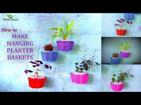 Make Hanging Planter | How to Grow Plants in Hanging Basket | Hanging Plants Ideas //GREEN PLANTS