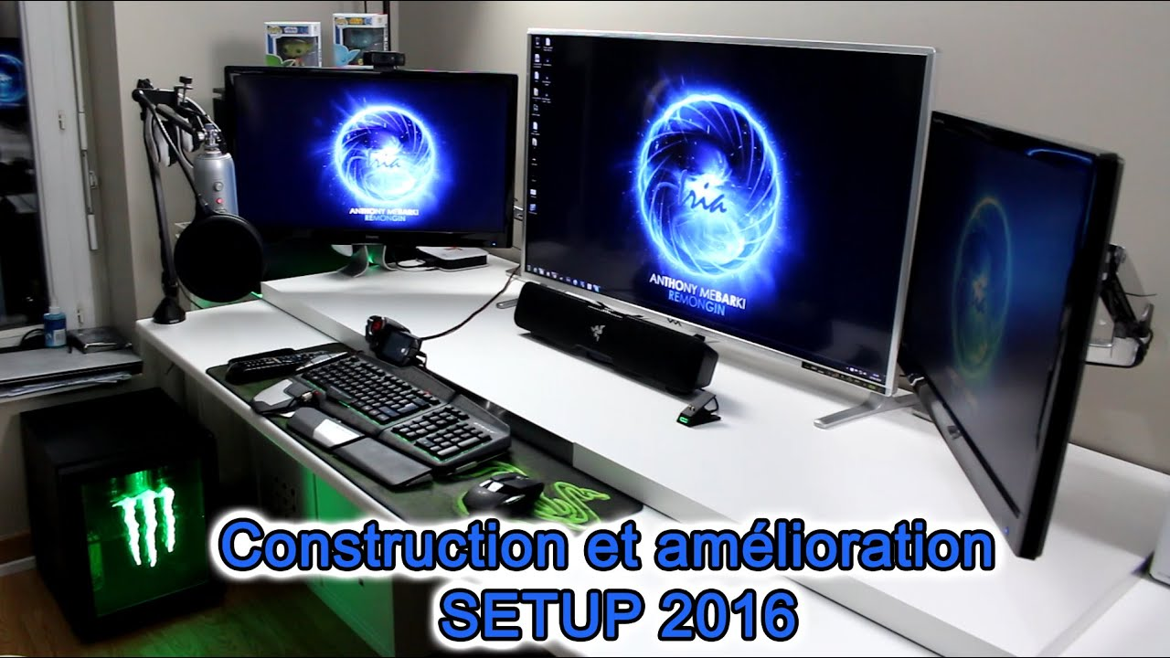 setup gaming room bureau 2016 am lioration et construction de mon nouveau setup youtube. Black Bedroom Furniture Sets. Home Design Ideas
