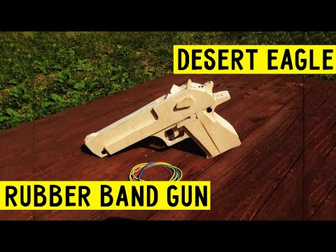 How to make [ Desert Eagle ] VERY EASY!!!! rubber band gun