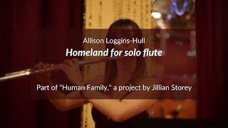 Homeland for solo flute (Allison Loggins-Hull)