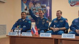 Пресс-конференция экипажа ТПК «Союз ТМА-18М»