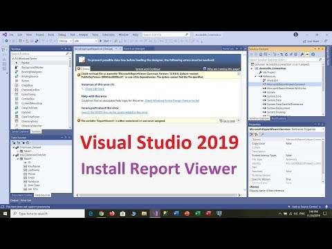 How To Download And Install Report Viewer For Visual Studio 2019
