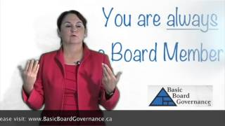 You are always a Board Member