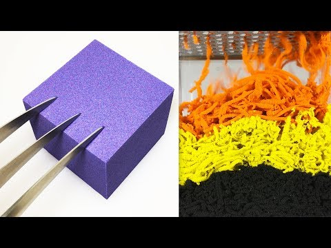 Very Satisfying and Relaxing Compilation 111 Kinetic Sand ASMR