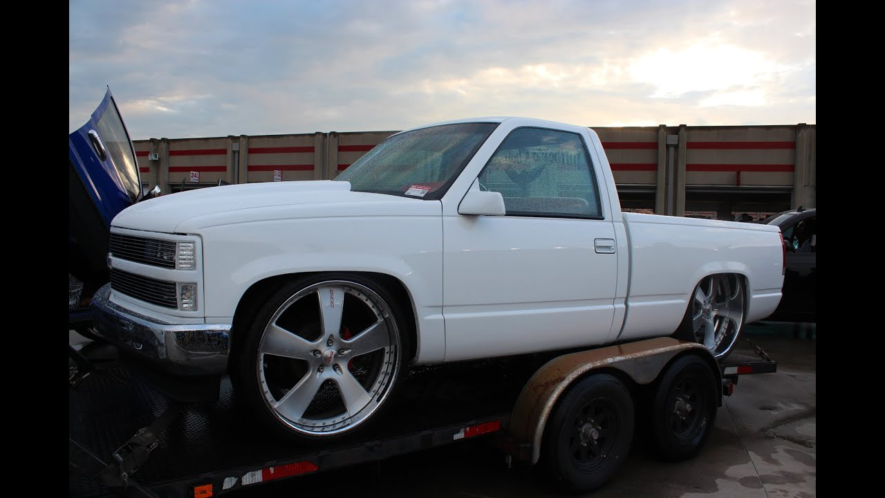 "Dually & Silverado Tucking Staggered 26"" Donz - YouTube"
