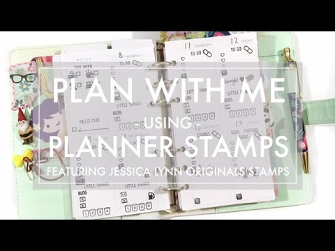 Plan with Me // Planner Stamps in my Personal Size Planner  - featuring Jessica Lynn Original Stamps