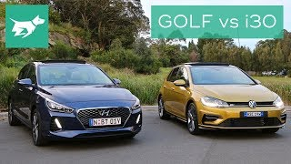 2018 Hyundai i30 vs 2018 Volkswagen Golf Comparison Review смотреть
