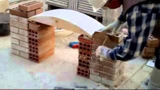Arco rebajado  construido con ladrillo cara vista Video nº 37 Ac.