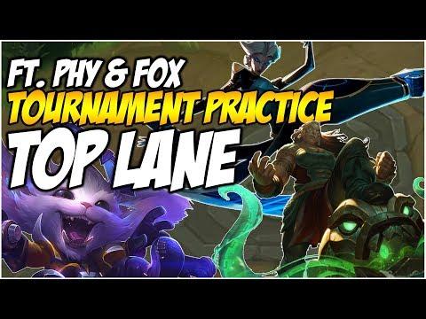 TOURNAMENT PRACTICE - GNAR, CAMILLE, ILLAOI - Ft. Phy & FoxDrop | League of Legends