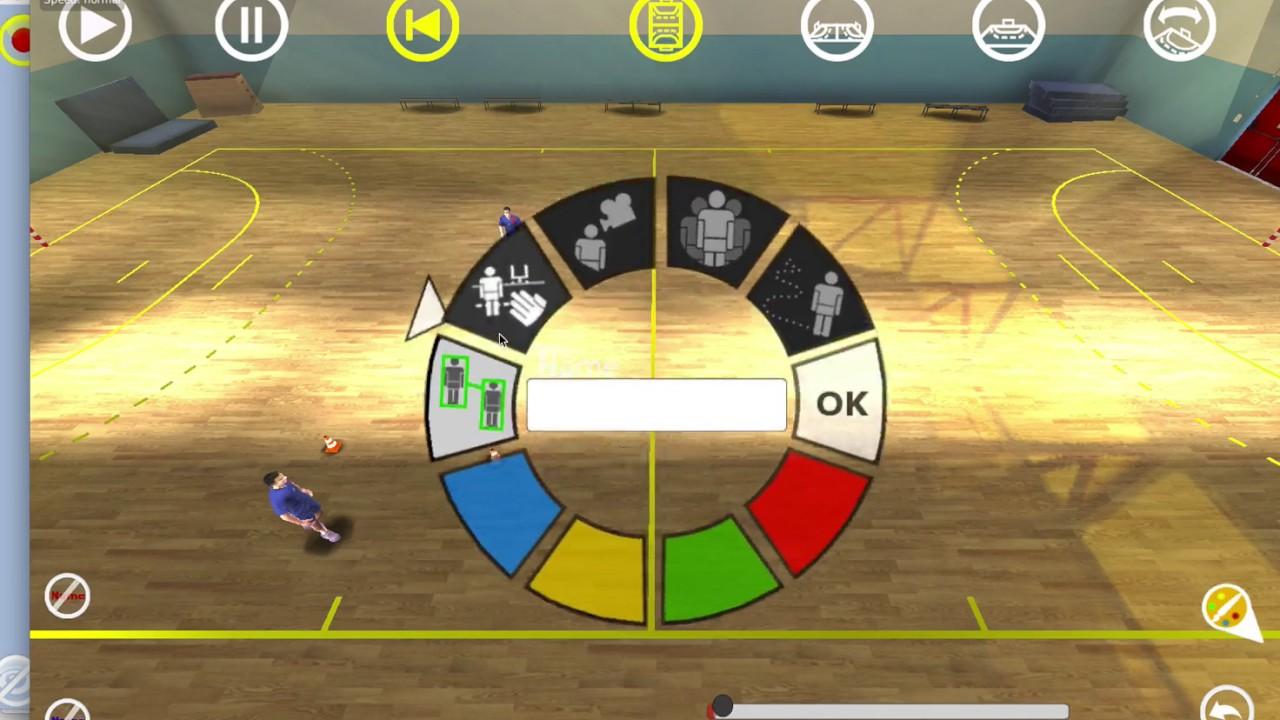 Tactic3D Handball exercice en 3D - YouTube