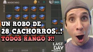 UN SAQUEO DE 28 PERROS RANGO 3..!! | LAST DAY ON EARTH: SURVIVAL | [RidoMeyer]
