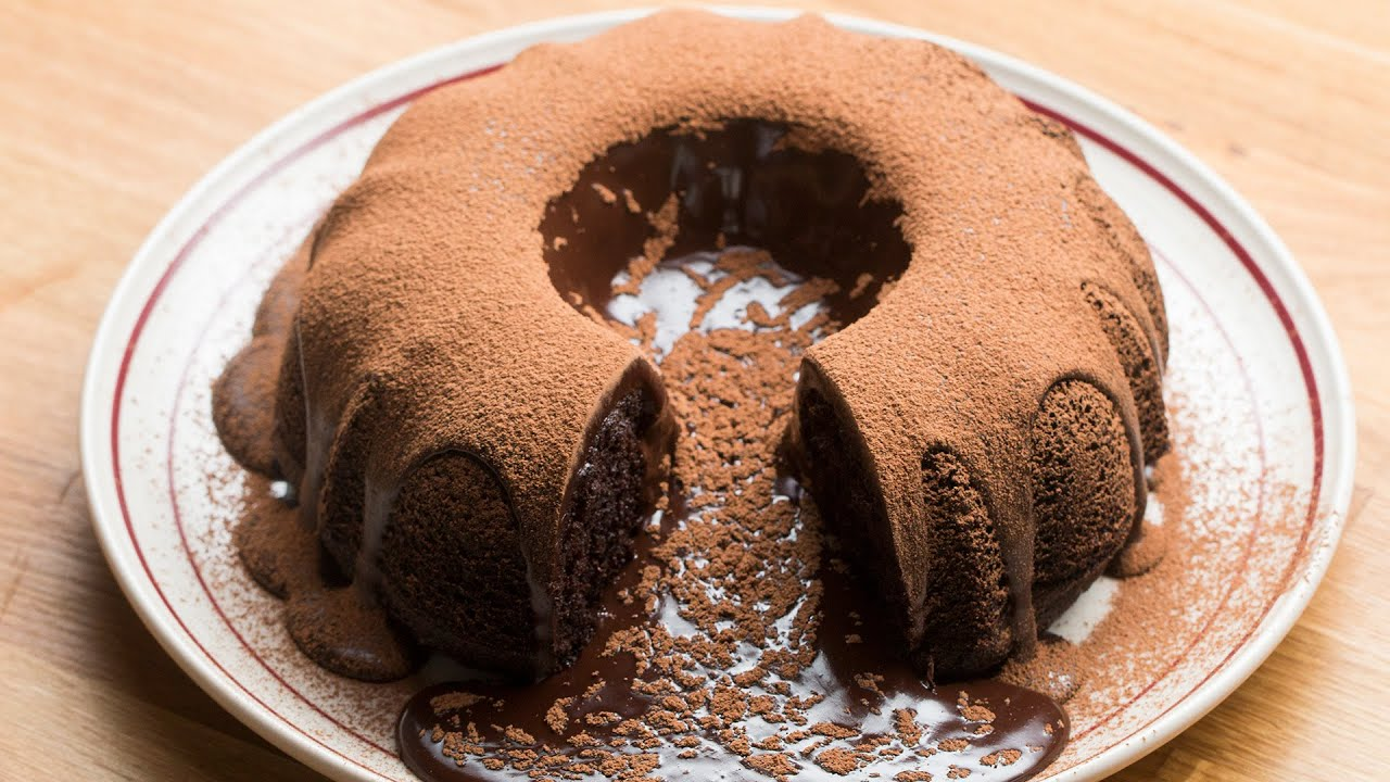 Giant Molten Chocolate Cake YouTube