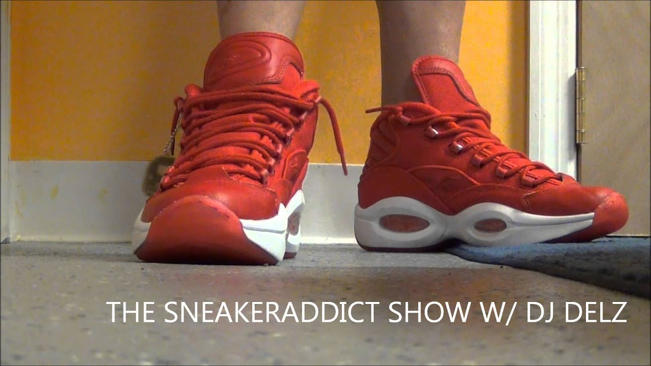 f32b87fa27b Reebok Iverson Question Red Canvas Pack Shoe Review + On Feet W   DjDelz DJ  Delz - YouTube