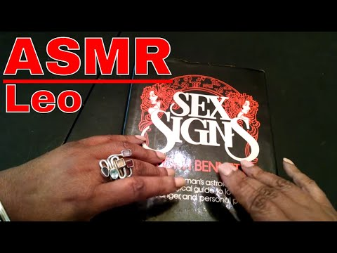 ASMR Horoscope Reading LEO (whispering, gum chewing, tapping and page turning)