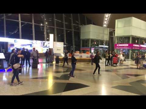 FlashMob Zapin at KLIA by Taman Seni Budaya Johor