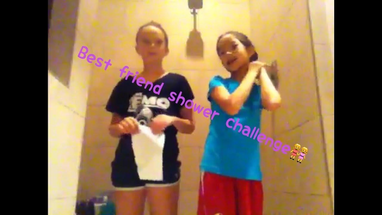 Best friend shower challenge
