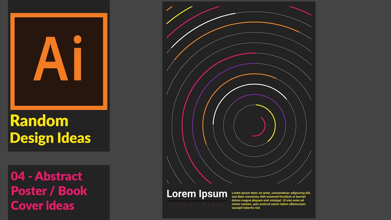 How To Make A Book Cover Using Illustrator : Cool abstract poster book cover design using adobe