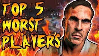 Top 5 WORST PLAYERS in Zombies! Call of Duty Black Ops 3, Black Ops 2, BO & WAW Zombies Gameplay