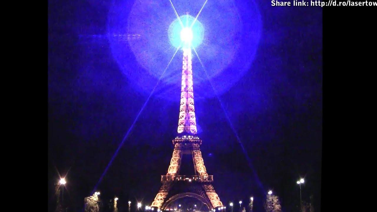 1w Blue Laser Diagram Vase 3d Origami 1000mw Eiffel Tower Shining Pocket