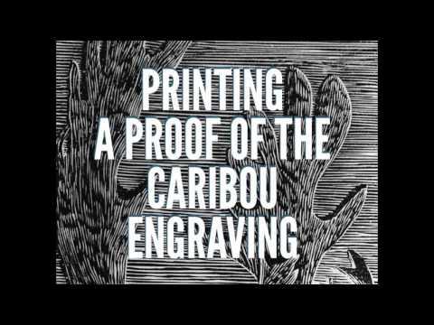 Printing a Resingrave/ Wood Engraving on an Etching Press