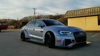 Dubsquared Forge Motorsport Audi RS3 LMS Behind the scenes Street Showcase UP CLOSE AND PERSONAL